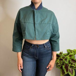 Handmade Utility Jacket in Forest Green -M-
